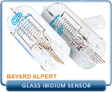 Granville Phillips 274, Iridium filament, Bayard-Alpert, 15 mm OD, 3/4 in., 1 in., Pyrex, Glass Ion Pressure Gauge Tube