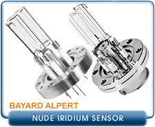 Granville Phillips Nude Bayard-Alpert Ion Gauge, 2.75 in. CF, KF-25, KF-40, Dual or Single Thoria Coated Iridium, EB degas