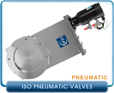 ISO Pneumatic Gate Valves By HVA, High Vacuum Valves pnematic vacuum gate valves, ISO LF MF