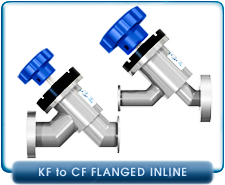 IdealVac Super-Seal KF16, KF25, CF 1.33, CF 2.75 to CF KF16, KF25, CF 1.33, CF 2.75 Adaptive Manual Bellows In-Line Valve, 304L Stainless Steel