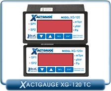 XactGauge Thermocouple Vacuum Gauges, Vacuum Rack TC Gauge Controller, XG-120, XG-120e, XG120, XG120e