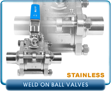 Ball Valve, Manual, weld on interface, 0.75 to 2.00 in. OD by 0.065 in. tube wall, Stainless Steel