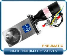 KF NW Pneumatic Gate Valves By HVA, High Vacuum Valves pnematic vacuum gate valves, NW KF
