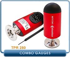 Pfeiffer TPR 280 Compact Pirani Gauge Sensor, Range 10-4 Torr, KF16 NW16