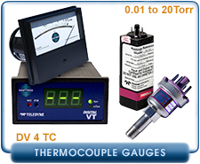 New Teledyne Hastings DV-4 Series Thermocouple Pressure Gauges & Controllers
