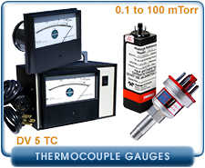New Teledyne Hastings DV-5 Series Thermocouple Pressure Gauges & Controllers