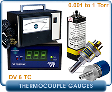 New Teledyne Hastings DV-6 Series Thermocouple Pressure Gauges & Controllers