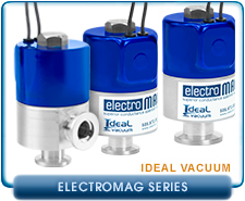 Ideal Vacuum ElectroMAG Compact Electromagnetic Aluminum Solenoid Valve, KF-16, KF-25, 120 VAC, 24 VDC