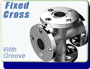 ASA Flange ASA 4-Way Cross, ASA 1 inch, Stainless Steel Fittings, WITH O-Ring Groove