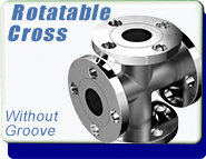 ASA Flange ASA 4-Way Cross, ASA 1 inch, Stainless Steel Fittings, Rotatable NO O-Ring Groove