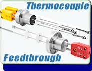 Feedthrough, Type K Thermocouple, 0.747 in. dia. Weld-on, UHV Rated, 2 Pair, With Connectors