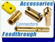 Electrical Power Connector Vacuum Feedthroughs Accessories diameter wires