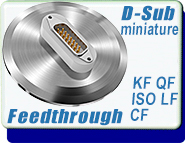 ElectricalD-Sub subminiature feedthroughs feedthrough KF40 ISO LF QF CF Multi Pin
