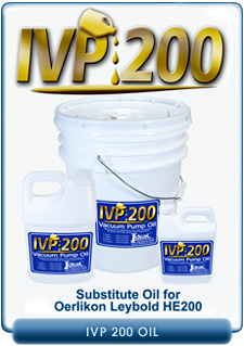 Ideal Vacuum Products IVP-200 Brand Oil Offered As A Replacement For Discountinued Oerlikon Leybold HE-200