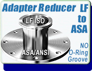 LF or MF Large ISO LF to ASA  Reducer Vacuum Fittings