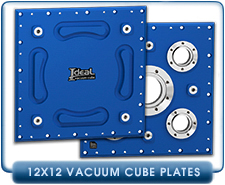 Ideal Vacuum Cube, Cubes 12x12X12  Vacuum Chamber Chambers Plate With One CF 2.75 in. Pumping or Feedthrough Port