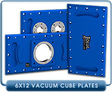 Ideal Vacuum Cube, Cubes 6x12 Vacuum Chamber Chambers  Blank Plate, Without Flanged Ports, 6061 Aluminum Alloy