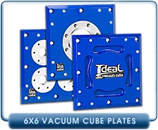 Ideal Vacuum Cube, Cubes 6x6x6, 6X6X12, 12X12X12, Vacuum Chamber, Chambers Plate With 4 KF-16 (NW-16) Pumping of Feedthrough Ports