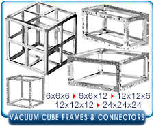 Ideal Vacuum Cube, Cubes 6x6x6, 6X6X12, 12X12X12  Inch Vacuum Chamber Chambers Frame Only, 6061 Aluminum Alloy