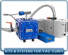 Ideal Vacuum Chambers, Kits, Accessories for Cubes, Cube and Chamber