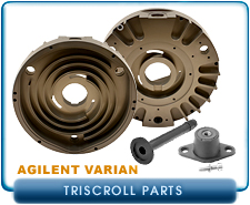 Parts for Agilent Varian TrisCroll 300 & 600. Orbiting or Outboard Scroll Module. Exhaust Adapter