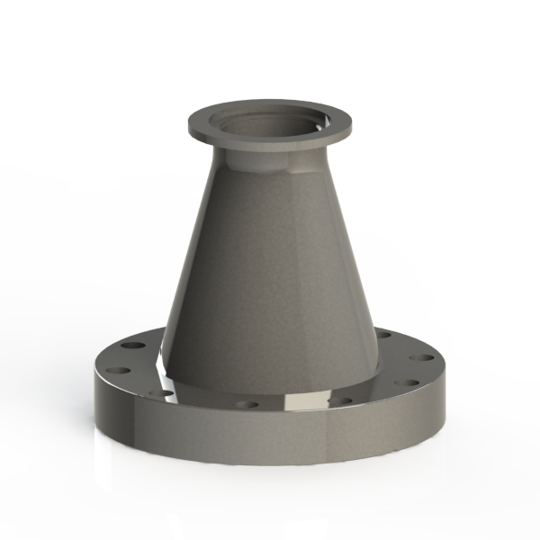 Adapter conical reducer kf to cf in flange