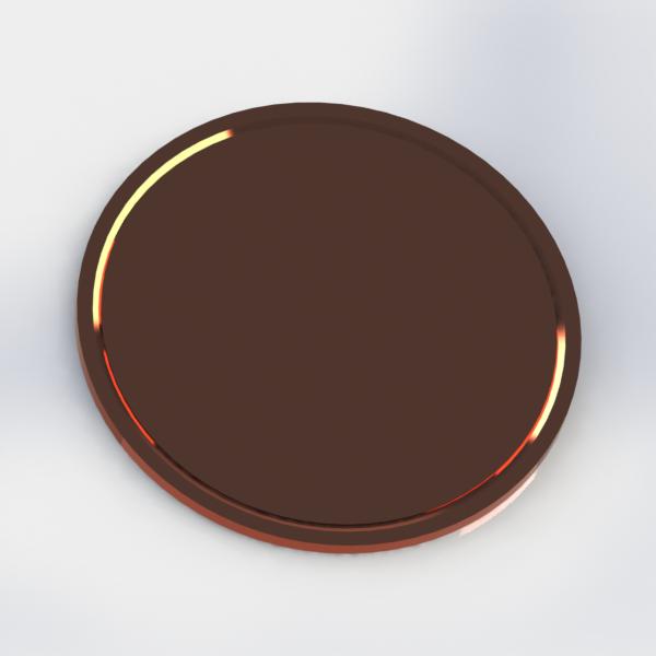 Картинка коричневый круг для детей