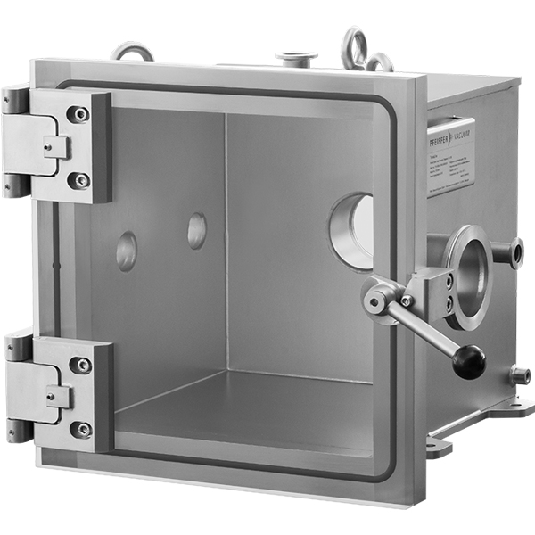 Pfeiffer Vacuum TrinosLine Chamber Test Chambers 12x12x12 Inches Cube Heavy Duty Systems Stainless Steel With Acrylic Glass Door