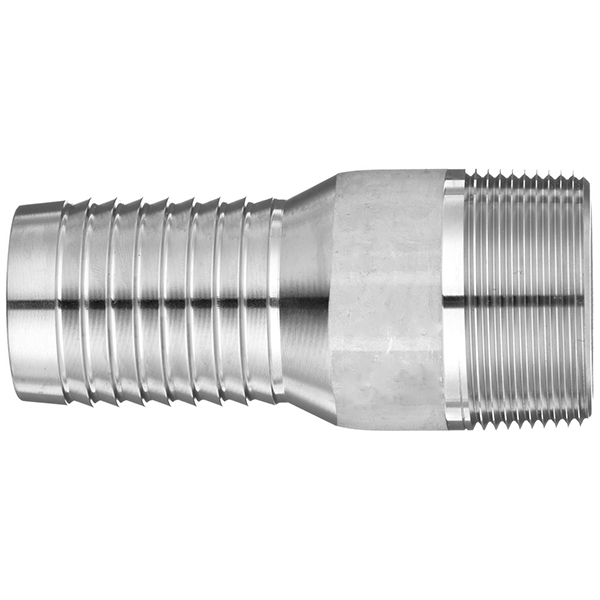 Adapter inch hose barb to id male npt