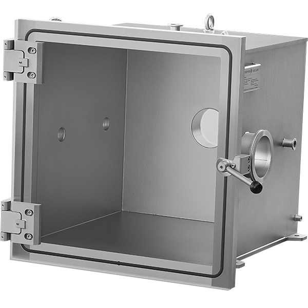 Pfeiffer TrinosLine Vacuum Chamber Chambers Test 20 Inches Cube 20X20 Cubical Heavy Duty Systems Stainless Steel With