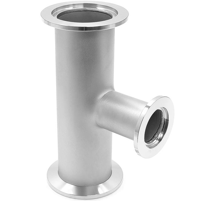 Tee reducer kf to vacuum fittings iso flange