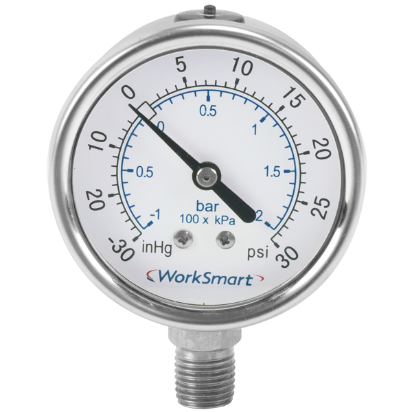 High Pressure Vacuum Gauge : Bourdon needle dial vacuum pressure gauge with inch