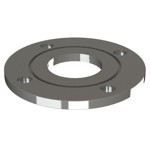 ASA Flange, 3 Inch, Fixed Bored Flat Weld On Vacuum Flange, with O ...