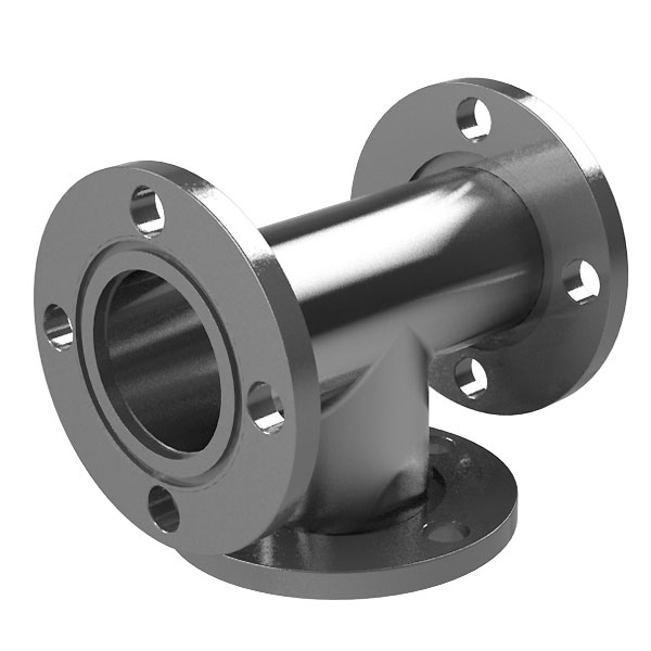 Asa tee fittings in flange o d rotatable