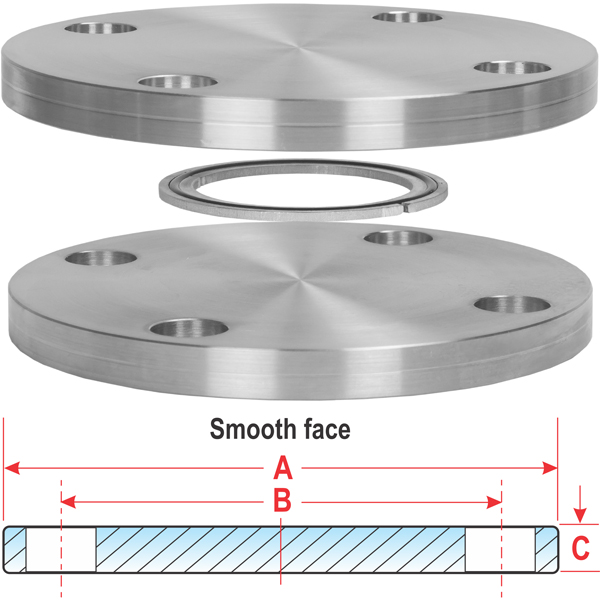 ASA 6 Inch Blank Smooth Flange NO O-Ring Groove, 11 in OD, 9.5 in ...