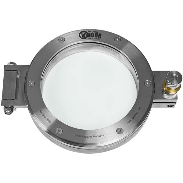 Fittings And Flanges U003e CF Fittings U003e Access Door, With Window Ss Entry Door,  Conflat Flange, CF 8.0 Inch, With Window View Port, Stainless Steel Fitting