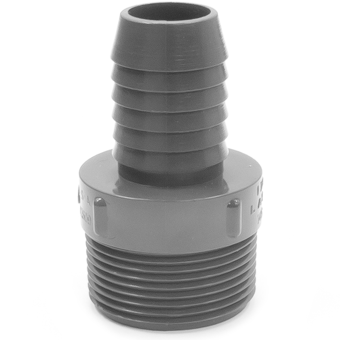 Adapter plastic in id rubber hose barb to