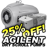 Agilent Dry Scroll Vacuum Pumps On Sale