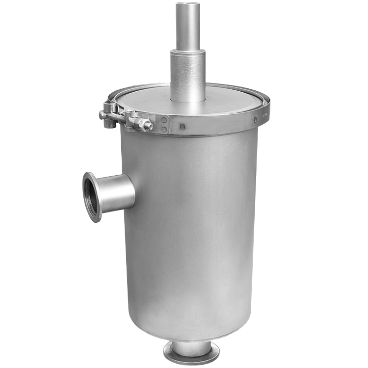 Angle liquid nitrogen trap inlet and outlet nw kf