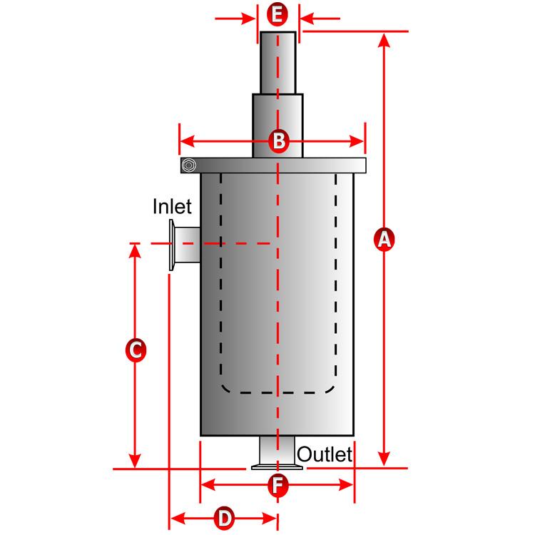 Ideal Vacuum Vapor Pumping Angle Liquid Nitrogen Trap Ln2