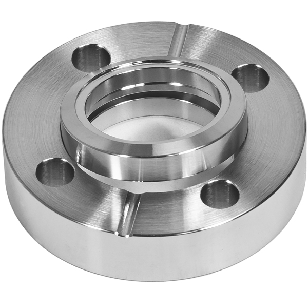 Bored conflat flange inch cf in