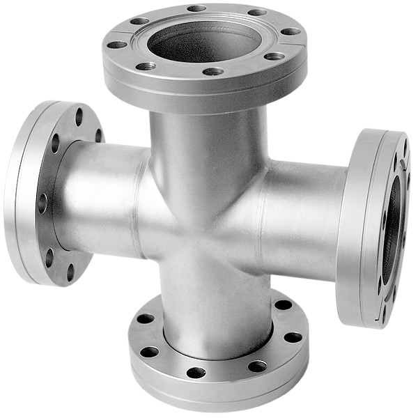 Conflat flange cf way cross inches stainless