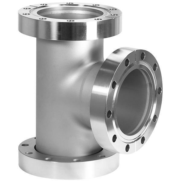 Flanged Pipe Fittings : Conflat flange cf tee inches stainless steel
