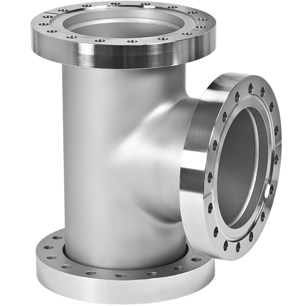Conflat flange cf tee inches stainless steel fittings