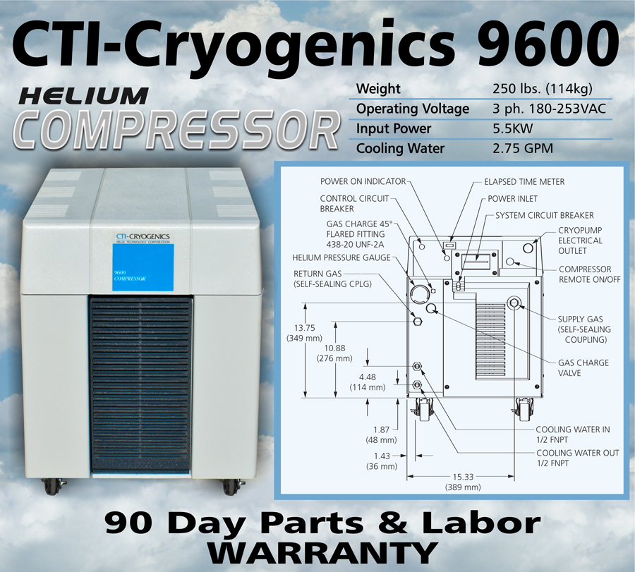 Ideal Vacuum Cti Cryogenics By Helix Cryo Torr Cryopump