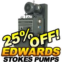 Edwards Stocks Microvac Piston Pumps