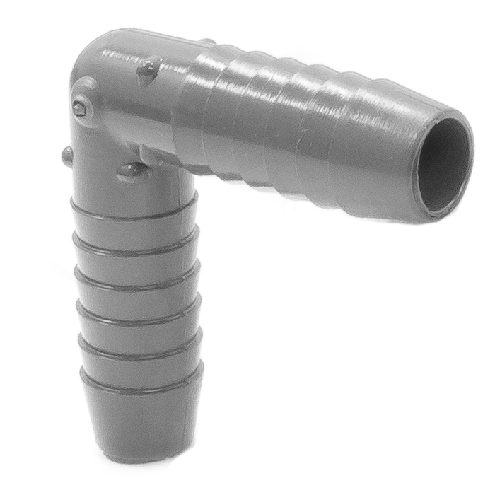 Adapter plastic elbow degree inch id