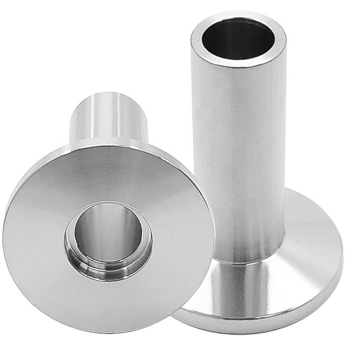 Half nipple inch tube long weld stub kf vacuum