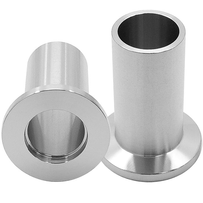 Half nipple long weld stub kf inch tube vacuum