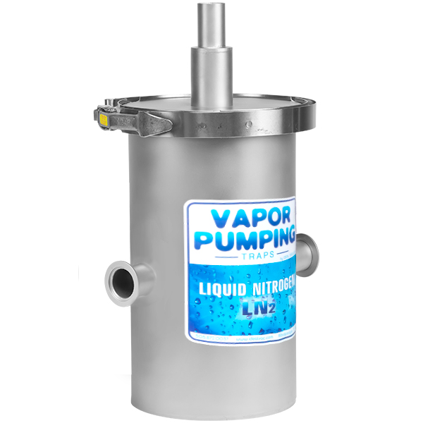 Ideal Vacuum Vapor Pumping In Line Liquid Nitrogen Trap
